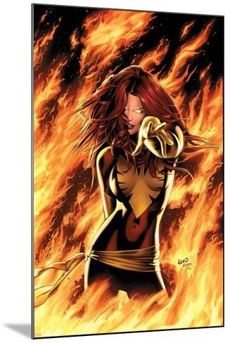 X-Men: Phoenix - Endsong No.1 Cover: Phoenix, Grey and Jean-Greg Land-Mounted Art Print