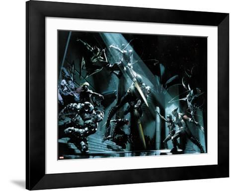 X-Force: Sex and Violence No.3: Domino and Wolverine Fighting-Gabriele DellOtto-Framed Art Print