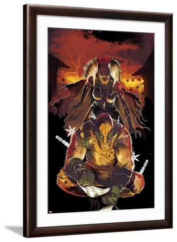 Klaws of the Panther No.2 Cover: Wolverine Crouching with Black Panther Behind Him-Mike Del Mundo-Framed Art Print