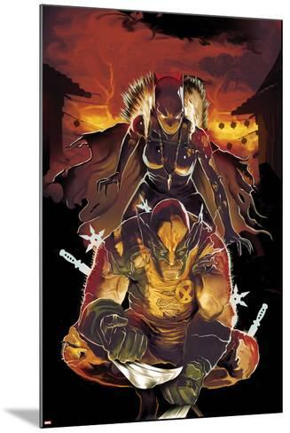 Klaws of the Panther No.2 Cover: Wolverine Crouching with Black Panther Behind Him-Mike Del Mundo-Mounted Art Print
