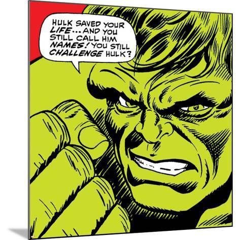 Marvel Comics Retro: The Incredible Hulk Comic Panel--Mounted Art Print