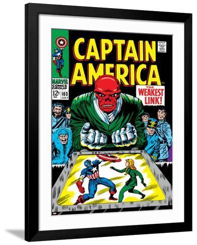 Marvel Comics Retro: Captain America Comic Book Cover No.103, Red Skull, the Weakest Link--Framed Art Print