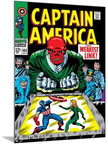 Marvel Comics Retro: Captain America Comic Book Cover No.103, Red Skull, the Weakest Link--Mounted Art Print