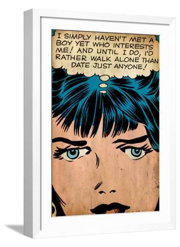 Marvel Comics Retro: Love Comic Panel, Proud Single Woman (aged)--Framed Art Print