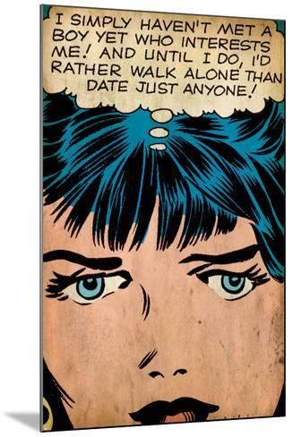 Marvel Comics Retro: Love Comic Panel, Proud Single Woman (aged)--Mounted Art Print