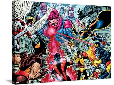 X-Men : Days Of Future Past Wrap Cover Cover: Wolverine-John Byrne-Stretched Canvas Print