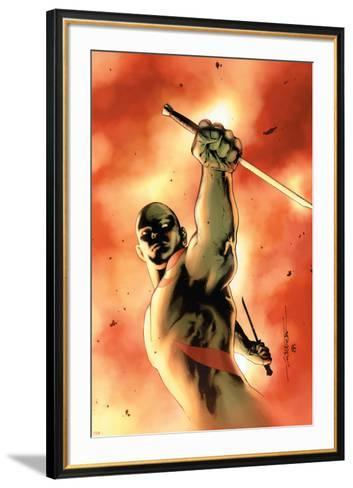 Drax The Destroyer No.3 Cover: Drax The Destroyer Fighting-Mitchell Breitweiser-Framed Art Print