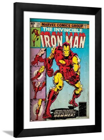Marvel Comics Retro: The Invincible Iron Man Comic Book Cover No.126, Suiting Up for Battle (aged)--Framed Art Print