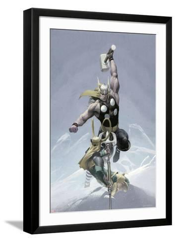 Loki No.3 Cover: Thor and Loki--Framed Art Print