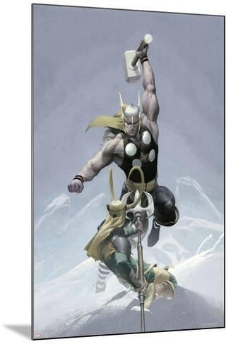 Loki No.3 Cover: Thor and Loki--Mounted Art Print