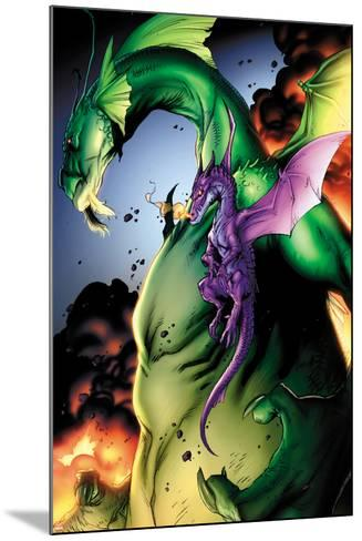 Avengers vs. Pet Avengers No.2: Fin Fang Foom and Lockheed Flying-Ig Guara-Mounted Art Print