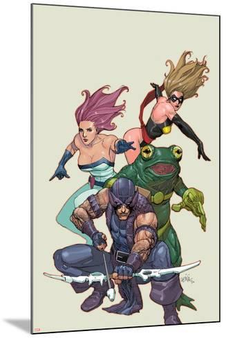 Spider-Island: Avengers No.1: Hawkeye, Ms. Marvel, Jessica Jones, and Frog-Man-Leinil Francis Yu-Mounted Art Print