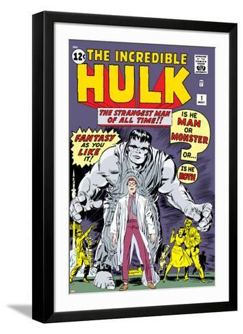 Marvel Comics Retro: The Incredible Hulk Comic Book Cover No.1, with Bruce Banner--Framed Art Print