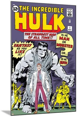 Marvel Comics Retro: The Incredible Hulk Comic Book Cover No.1, with Bruce Banner--Mounted Art Print