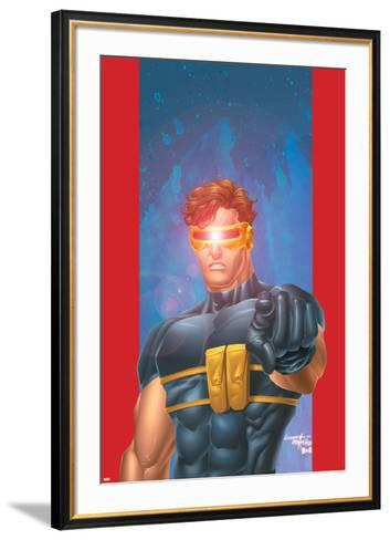 Ultimate X-Men No.1/2 Cover: Cyclops-Aaron Lopresti-Framed Art Print