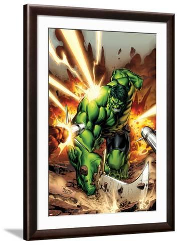 Incredible Hulks No.615 Cover: Hulk Smashing-Carlo Pagulayan-Framed Art Print