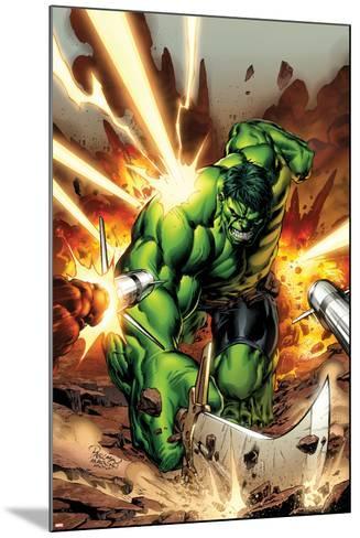 Incredible Hulks No.615 Cover: Hulk Smashing-Carlo Pagulayan-Mounted Art Print