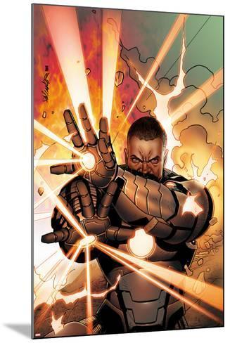 Iron Man 2.0 No.11 Cover: War Machine Shooting Energy-Salvador Larroca-Mounted Art Print
