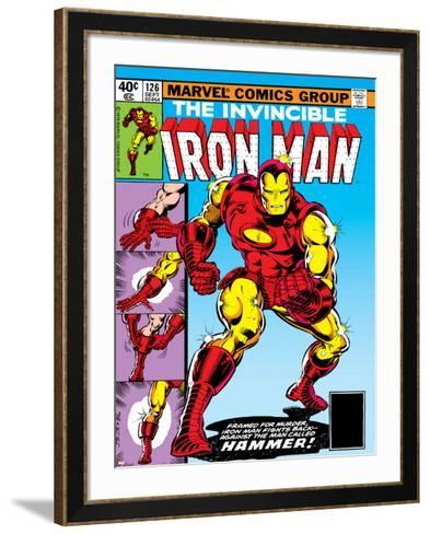 Marvel Comics Retro: The Invincible Iron Man Comic Book Cover No.126, Suiting Up for Battle--Framed Art Print