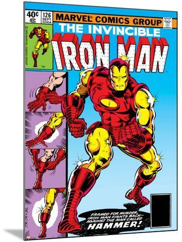 Marvel Comics Retro: The Invincible Iron Man Comic Book Cover No.126, Suiting Up for Battle--Mounted Art Print