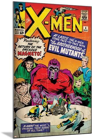 Marvel Comics Retro: The X-Men Comic Book Cover No.4, Scarlet Witch, Quicksilver, Toad(aged)--Mounted Art Print