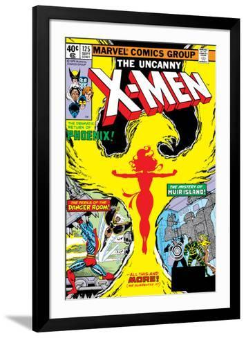 Uncanny X-Men No.125 Cover: Phoenix, Colossus, Storm, Madrox and Havok-John Byrne-Framed Art Print