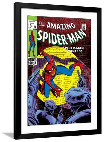 Marvel Comics Retro: The Amazing Spider-Man Comic Book Cover No.70, Wanted!--Framed Art Print