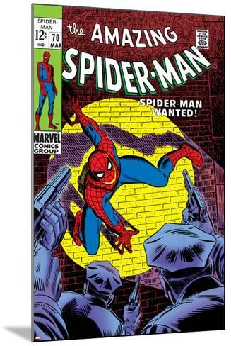 Marvel Comics Retro: The Amazing Spider-Man Comic Book Cover No.70, Wanted!--Mounted Art Print