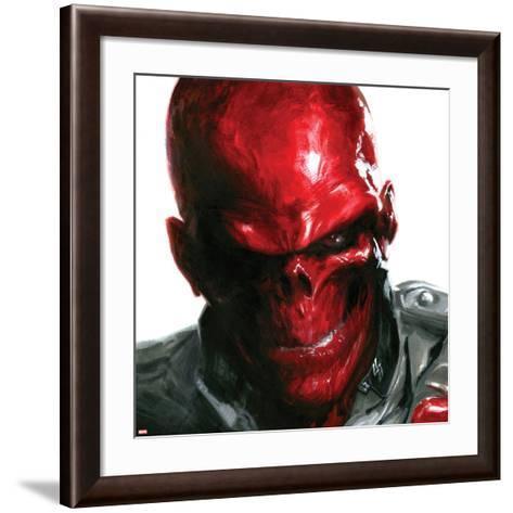 Vengeance No.5 Cover: Headshot of Red Skull-Gabriele DellOtto-Framed Art Print