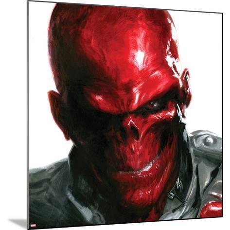 Vengeance No.5 Cover: Headshot of Red Skull-Gabriele DellOtto-Mounted Art Print
