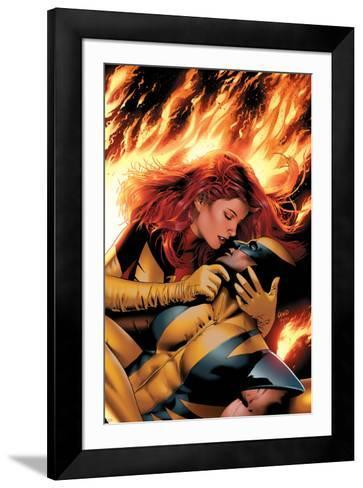 X-Men: Phoenix - End Song No.3 Cover: Phoenix and Wolverine-Greg Land-Framed Art Print