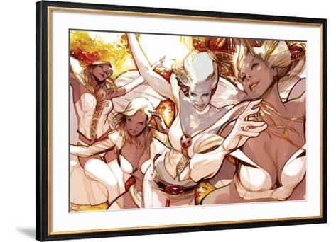 X-Men Evolutions No.1: Emma Frost-Greg Tocchini-Framed Art Print
