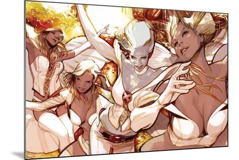 X-Men Evolutions No.1: Emma Frost-Greg Tocchini-Mounted Art Print