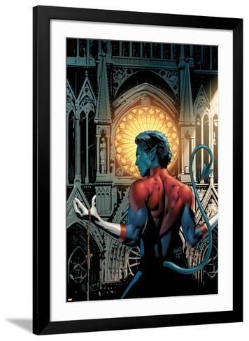 Nightcrawler No.3 Cover: Nightcrawler Fighting-Greg Land-Framed Art Print
