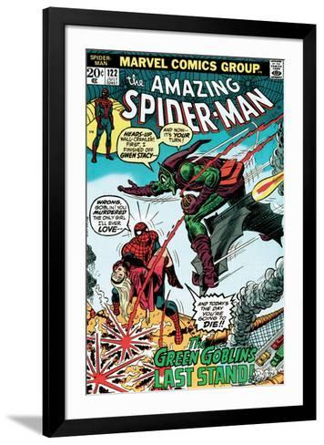 Marvel Comics Retro: The Amazing Spider-Man Comic Book Cover No.122, the Green Goblin's Last Stand!--Framed Art Print