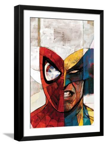 Moon Knight No.5 Cover: Spider-Man and Wolverine-Alex Maleev-Framed Art Print