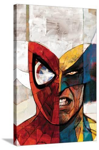 Moon Knight No.5 Cover: Spider-Man and Wolverine-Alex Maleev-Stretched Canvas Print