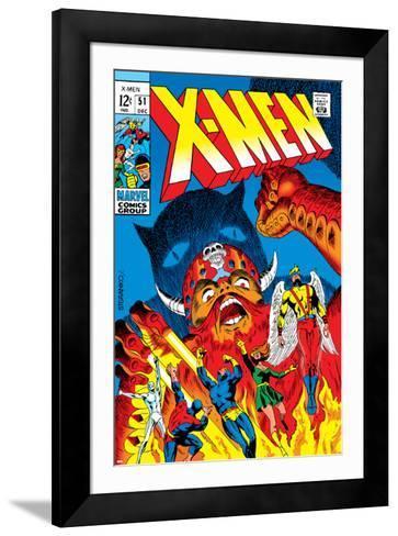 X-Men No.51 Cover: Erik The Red, Cyclops, Angel, Iceman and X-Men-Arnold Drake-Framed Art Print
