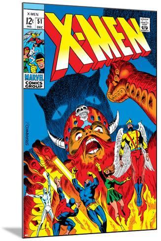 X-Men No.51 Cover: Erik The Red, Cyclops, Angel, Iceman and X-Men-Arnold Drake-Mounted Art Print