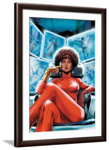 Heroes for Hire No.4 Cover: Misty Knight Sitting-Doug Braithwaite-Framed Art Print