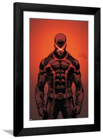 Cable and X-Force #7 Cover: Cyclops-Salvador Larroca-Framed Art Print