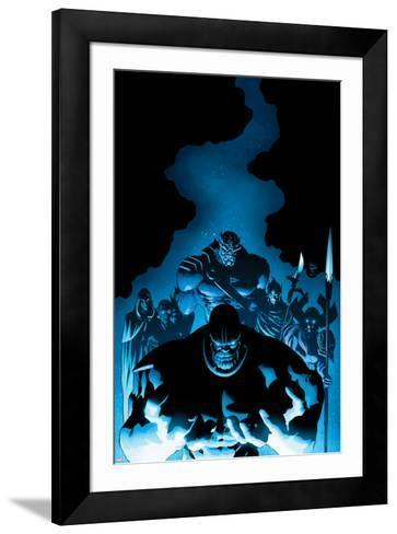 New Avengers #9 Cover: Thanos, Proxima Midnight, Corvus Glaive, Black Dwarf, Supergiant, Ebony Maw-Mike Deodato-Framed Art Print