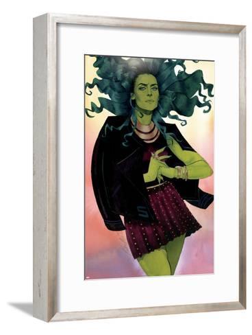 She-Hulk No. 12 Cover-Kevin Wada-Framed Art Print