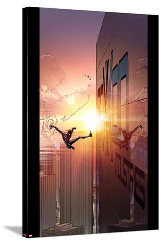 Ultimate Comics Spider-Man #27 Cover: Spider-Man-David Marquez-Stretched Canvas Print