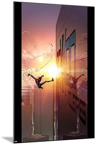 Ultimate Comics Spider-Man #27 Cover: Spider-Man-David Marquez-Mounted Art Print