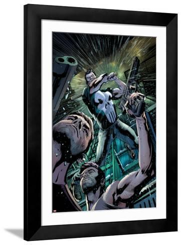 The Punisher No.4 Cover: Punisher Fighting-Brian Hitch-Framed Art Print