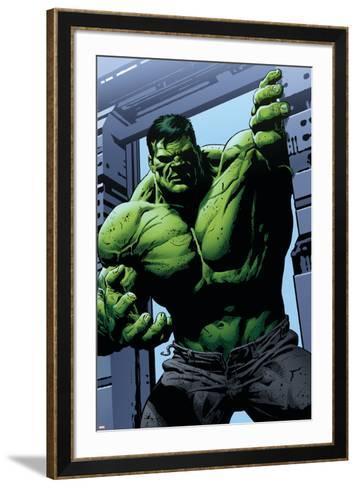 Avengers Assemble Panel Featuring Hulk--Framed Art Print