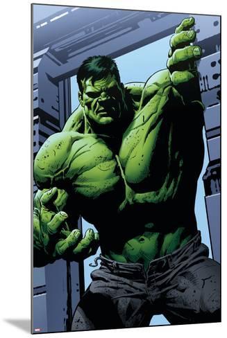 Avengers Assemble Panel Featuring Hulk--Mounted Art Print