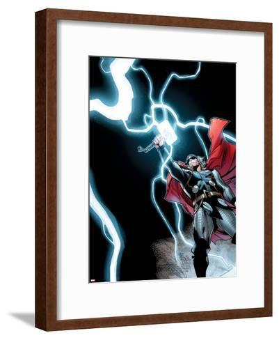 Avengers Assemble Panel Featuring Thor--Framed Art Print