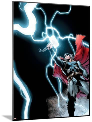 Avengers Assemble Panel Featuring Thor--Mounted Art Print